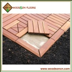 Balau Outdoor Decking Tiles