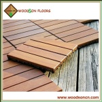 Balau Outdoor Wooden Decking Tiles